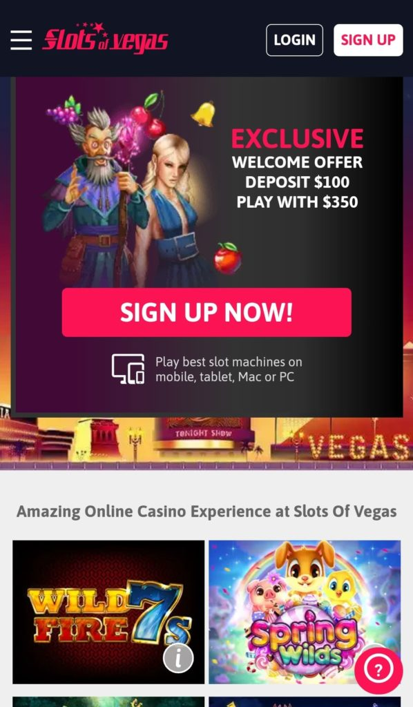 Mobile App, quick and smooth gambling Good for Apple and Android devices Sign up and log in via mobile app