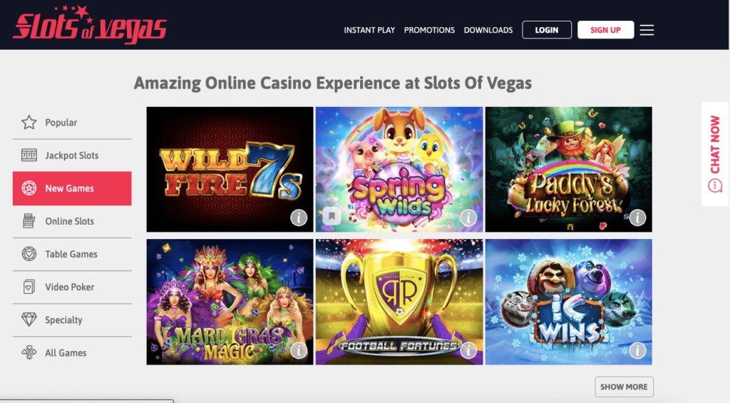 Amazing Online Casino Experience  Wide range of games Wild fire 7, Spring Wilds, Paddy's Lucky Forest, Mardi Gras Magic, Football Fortunes, ic wins